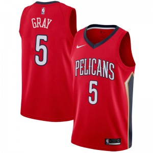Nike New Orleans Pelicans Swingman Red Josh Gray Jersey - Statement Edition - Youth