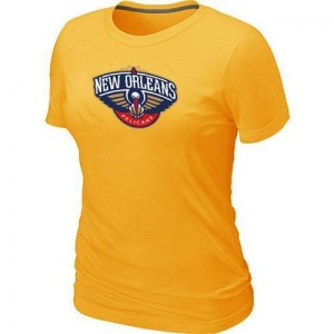 New Orleans Pelicans Yellow Big & Tall Primary Logo T-Shirt - - Women's